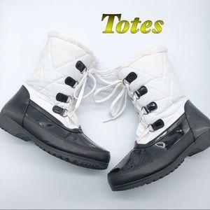 Totes Black & white All weather Snow & Rain Boot 8
